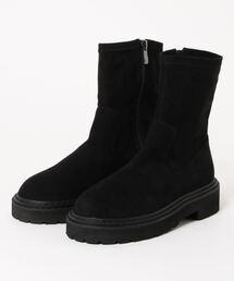 ブーツ 厚底ストレッチショートブーツ/0161|ZOZOTOWN PayPayモール店
