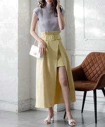 スカート ウエストベルト付きスリットロングスカート/21023|ZOZOTOWN PayPayモール店