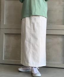 スカート デニム 【2021S/S New Arrival】カラーヘビーツイル&デニムロングタイトスカート|ZOZOTOWN PayPayモール店