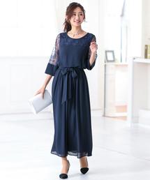 ドレス レース切替 ロング ドレス|ZOZOTOWN PayPayモール店