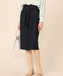 スカート 麻調ストレッチベイカースカート|ZOZOTOWN PayPayモール店