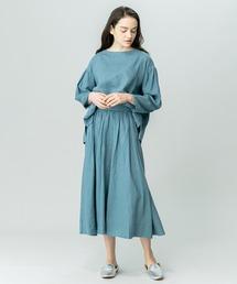 スカート 【LE GLAZIK】リネンフレアスカート KLM WOMEN ZOZOTOWN PayPayモール店