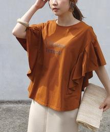 tシャツ Tシャツ [洗える]シルケット天竺フレアスリーブロゴTシャツ[M/LL/3L/4L/5L]|ZOZOTOWN PayPayモール店