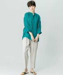 シャツ ブラウス 【LE GLAZIK】ラミーギャザーシャツ RAM WOMEN ZOZOTOWN PayPayモール店