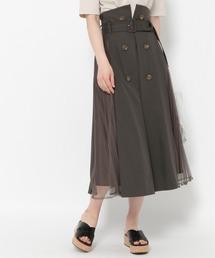 スカート トレンチチュールプリーツスカート 928645|ZOZOTOWN PayPayモール店