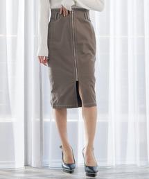 スカート バイカラーステッチペンシルZIP スカート ZOZOTOWN PayPayモール店