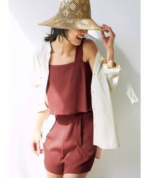 水着 IEDIT 福田麻琴さんコラボ まるで服みたいなスイムウェア〈ブリックブラウン〉|ZOZOTOWN PayPayモール店