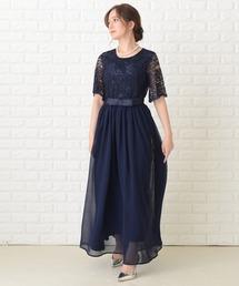 ドレス ウエストリボンロングパーティドレス・ワンピース ZOZOTOWN PayPayモール店