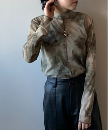 tシャツ Tシャツ 【PUBLUX/パブリュクス】シアームラ染めモックネックトップス|ZOZOTOWN PayPayモール店