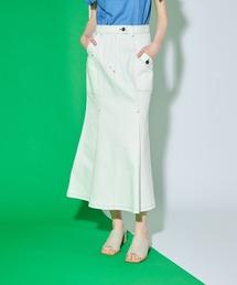 スカート フィットアンドフレアロングデニムスカート|ZOZOTOWN PayPayモール店
