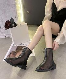 ブーツ フロントジップ メッシュ ブーツ|ZOZOTOWN PayPayモール店