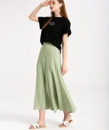 スカート マーメイドラインリネン混ロングスカート|ZOZOTOWN PayPayモール店