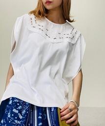 tシャツ Tシャツ カットワークカラーサークルスリーブTシャツ|ZOZOTOWN PayPayモール店