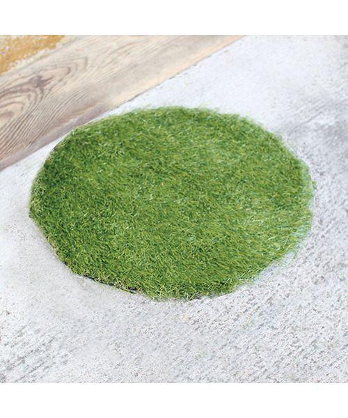 ラグ ラグマット 人気ショップが最安値挑戦 人工芝グリーングラスマット ラウンド 初回限定 MAT Sサイズ 45cm GRASS