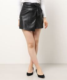 スカート フェイクレザーラップミニスカート|ZOZOTOWN PayPayモール店