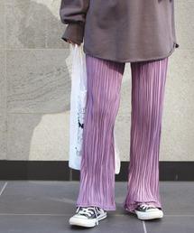 パンツ [新色][洗える]カットプリーツパンツ【大きいサイズ対応】|ZOZOTOWN PayPayモール店