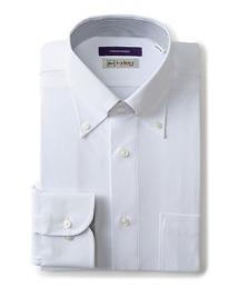 【完全ノーアイロン】長袖アイシャツ ボタンダウン ホワイト|ZOZOTOWN PayPayモール店