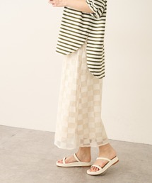 スカート ブロックチェックメッシュタイトスカート|ZOZOTOWN PayPayモール店