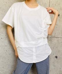 tシャツ Tシャツ シャツドッキング ドロストTシャツ|ZOZOTOWN PayPayモール店