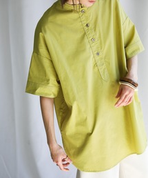 シャツ ブラウス 2021 SS ステッチスタンドカラースリーピングシャツ ZOZOTOWN PayPayモール店