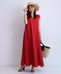 ワンピース 裾刺繍Aラインワンピース ZOZOTOWN PayPayモール店