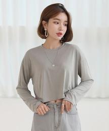 tシャツ Tシャツ シンプル クロップド ロングTシャツ|ZOZOTOWN PayPayモール店