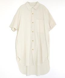 シャツ ブラウス B2621 オーガニックコットンロングシャツ|ZOZOTOWN PayPayモール店