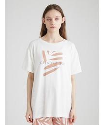 ルームウェア パジャマ リネンミックスレーヨンロゴTシャツ|ZOZOTOWN PayPayモール店