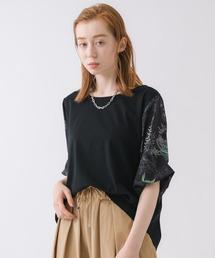 tシャツ Tシャツ FOR THE PEOPLE ボタニカルプリントボリューム袖Tシャツ ZOZOTOWN PayPayモール店
