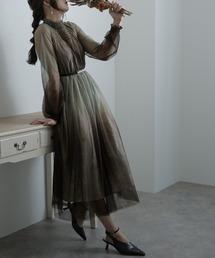 ドレス グラデーションチュールワンピース / 結婚式ワンピース お呼ばれ・二次会・セレモニー大きいサイズ対応フォーマルパーティードレス|ZOZOTOWN PayPayモール店