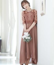 ドレス ロング&七分袖フォーマルシアーブラウス結婚式ワンピースドレス|ZOZOTOWN PayPayモール店