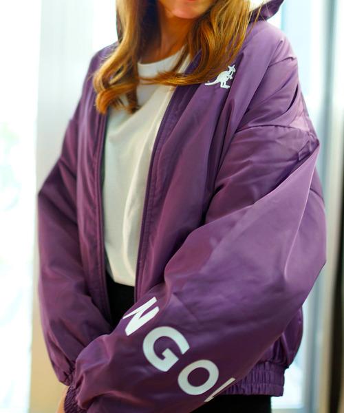 ジャケット 流行 ブルゾン KANGOL カンゴール 安心の定価販売 ブランドロゴ 袖プリント 裏ボアスタンドブルゾン
