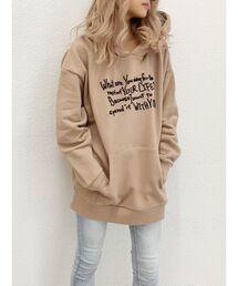 パーカー message embroideryBIGスウェットパーカー ZOZOTOWN PayPayモール店