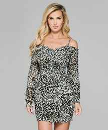 ワンピース MARCIANO Wild Cat Short Dress|ZOZOTOWN PayPayモール店