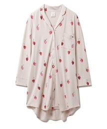 ルームウェア パジャマ ストロベリーモチーフシャツドレス|ZOZOTOWN PayPayモール店