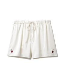 ルームウェア パジャマ ストロベリー刺繍サテンショートパンツ|ZOZOTOWN PayPayモール店