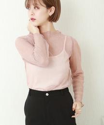 tシャツ Tシャツ シアーラメ楊柳プルオーバー+天竺キャミ セット|ZOZOTOWN PayPayモール店