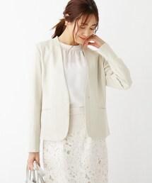 スーツ ジャケット Reflax(R)カナパノーカラージャケット【WEB限定サイズ】|ZOZOTOWN PayPayモール店