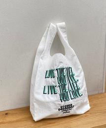 エコバッグ バッグ LOVE THE LIFE...刺繍ナイロンエコバッグ|ZOZOTOWN PayPayモール店