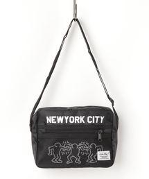 ショルダーバッグ バッグ 【Keith Haring / キースヘリング】 横型 メッシュポケット ショルダーバッグ|ZOZOTOWN PayPayモール店