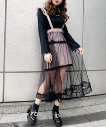 スカート パールベルトチュールスカート|ZOZOTOWN PayPayモール店