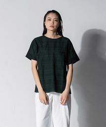 tシャツ Tシャツ 【大きいサイズ】ストライプ刺繍カットソー|ZOZOTOWN PayPayモール店