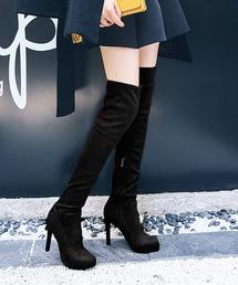 ブーツ 【2021年Jasmine AW新作 】ストーム2cm! 美脚効果抜群! ピンヒールニーハイブーツ ZOZOTOWN PayPayモール店