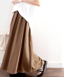 スカート さらり、たっぷりフレア。リラックスコットンリネンスカート ZOZOTOWN PayPayモール店