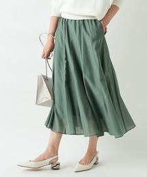 スカート フェミニンな印象の一枚 エアークロスギャザースカート ZOZOTOWN PayPayモール店
