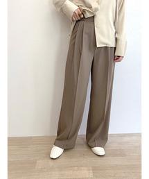 パンツ スラックス 2tuck semi wide slacks / 2タックセミワイドスラックス|ZOZOTOWN PayPayモール店