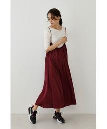 スカート ロングストラップギャザースカート|ZOZOTOWN PayPayモール店