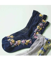 靴下 IEDIT フラワーラインの華やかソックス|ZOZOTOWN PayPayモール店