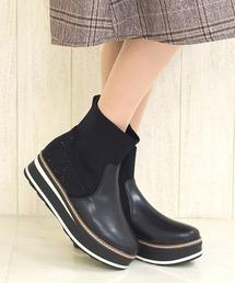 ブーツ 厚底ショートブーツ/092|ZOZOTOWN PayPayモール店