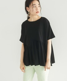 tシャツ Tシャツ 切り替えギャザードルマンカットプルオーバー **◇|ZOZOTOWN PayPayモール店